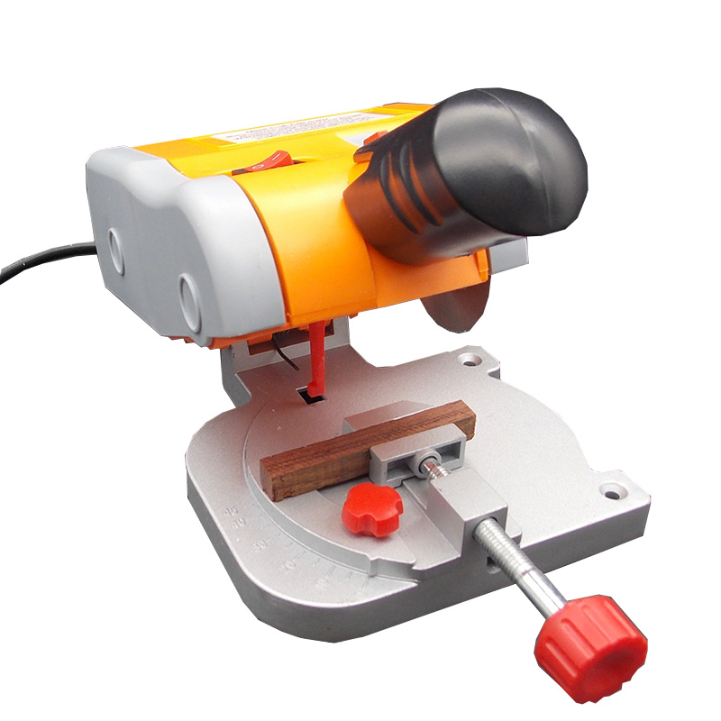 Mini saw plastic cutter non-ferrous metal cutting machine woodworking sawing machine 110V/220V metal saw machinery portable sawing machine low noise small metalworking sawing machine with english manual