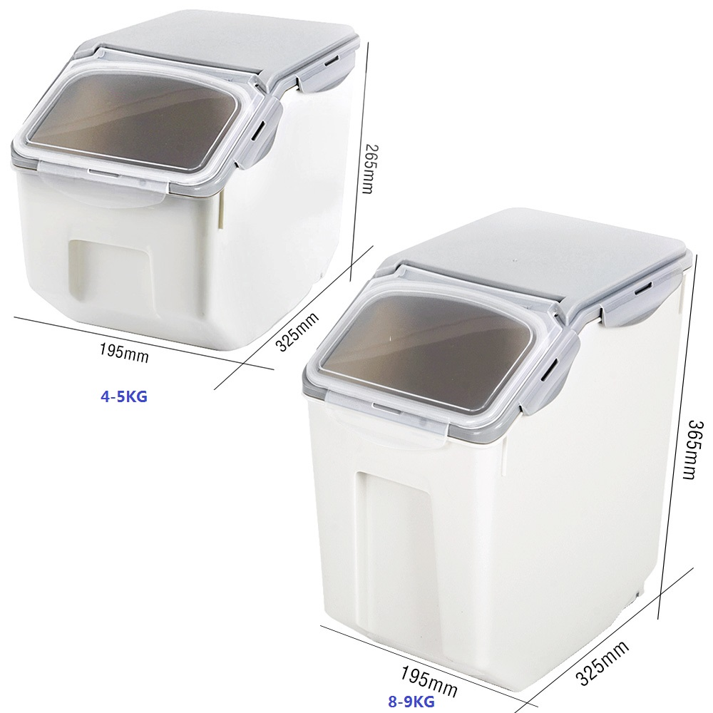 8 9kg Sealed Dog Dry Food Container Pet Food Storage