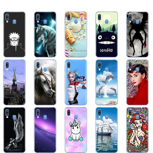 Pour Samsung A40 étui souple en Silicone coque arrière pour Samsung Galaxy A40 Galaxy ya40 A 40 A405 SM-A405F A405F