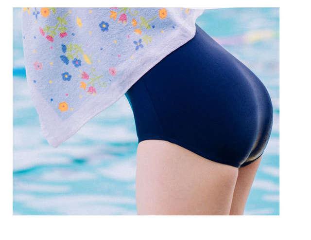 360cc66a9757f Japanese school SUKUMIZU Navy Blue Swimwear for girls Slimming one pieces  women Swimsuit Lovelive! Sailor