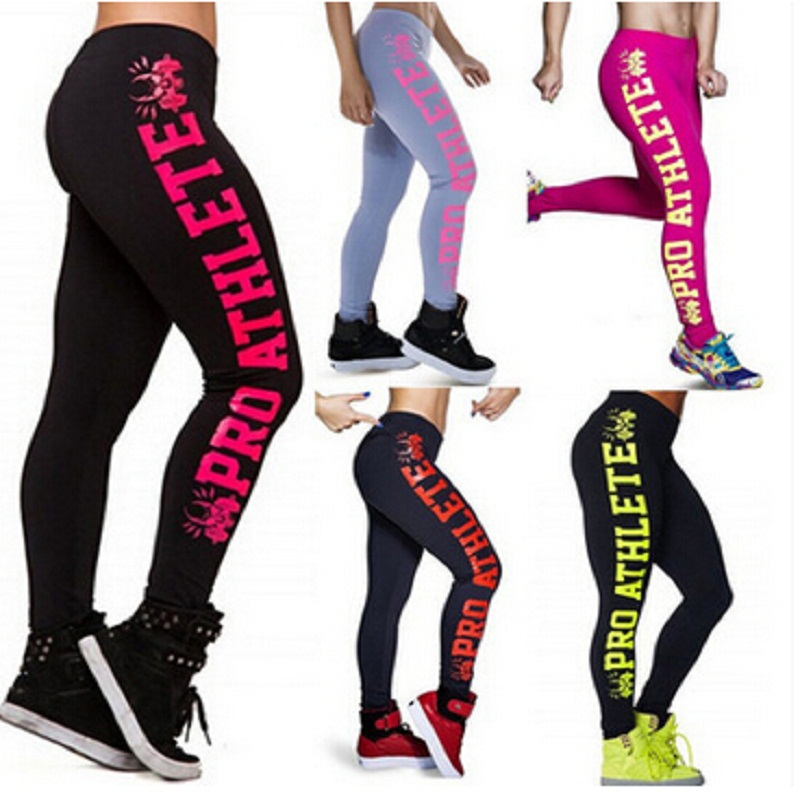 Fashion Trousers Woman Clothing Work Out Letters   Leggings   Slim Sexy Fitness   Legging   Pants For Woman