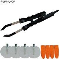 Hot Fusion Heat Gun Connector Full Kit Flate Plate Human Hair Connector Hair Extensions Iron Melting