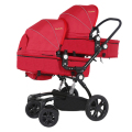 High Quality Fashion Twins Baby Stroller High Landscape Foldable Twin Baby Car Shockproof Pram Twins Soft Twins Stroller C01