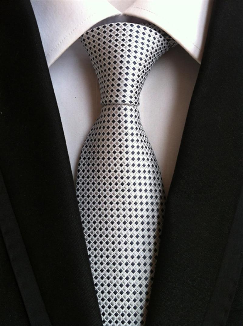 SCST Brand Corbatas 2017 New Dot Print Solid Slim Wedding Neckties Mens Necktie Silk Ties For Men Tie Silver Gravata Gift A037