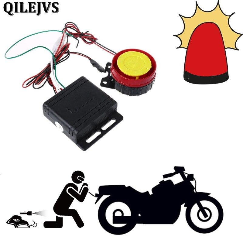 QILEJVS система сигнализации для мотоцикла и велосипеда скутер противоугонная система охранной сигнализации дистанционное управление запуск...