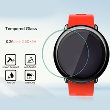 OOTDTY 2Pcs 9H Tempered Glass Film Screen Protector Clear Guard For Amazfit Smart Watch Accessories for tic smart watch ticwatch pro bluetooth smart watch screen protector cover ultra clear guard tempered glass protective film