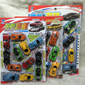 a set Small Plate Simulation Mini - power Car Plastic World Famous Toy Inertia Simulation Rapid Racing  Different Color Car Toy