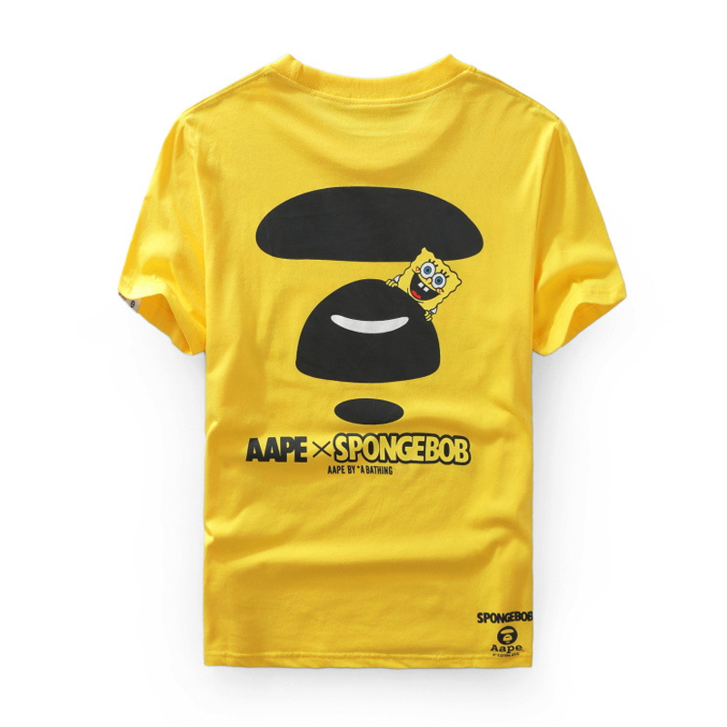 f355af9bad97 Bape Men T Shirt 3d Tee Shirt Homme Anime T shirt Spongebob Aape Joint  Shirts Couple Outfits Unisex Funny Tshirt Fashion School-in T-Shirts from  Men's ...