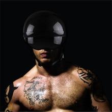 VOSS Brand carbon fiber Harley open face motorcycle Helmet Vintage motorbike helmet cruise half face moto helmet DOT Approved цена