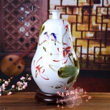 Jingdezhen ceramic vase Porcelain Decoration Art Vase natural gourd kiln porcelain of modern furniture and ornaments цена