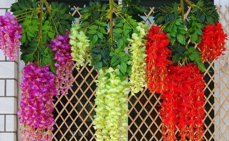 Intergards глицинии искусственный цветок - Товары для праздников и вечеринок - Фотография 4