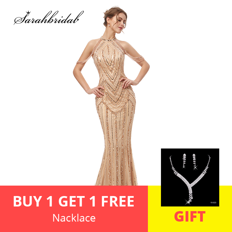 Robe De Soiree 2019 New Arrivals In Stock Elegant Evening Dresses Mermaid Actual Tulle Floor Length