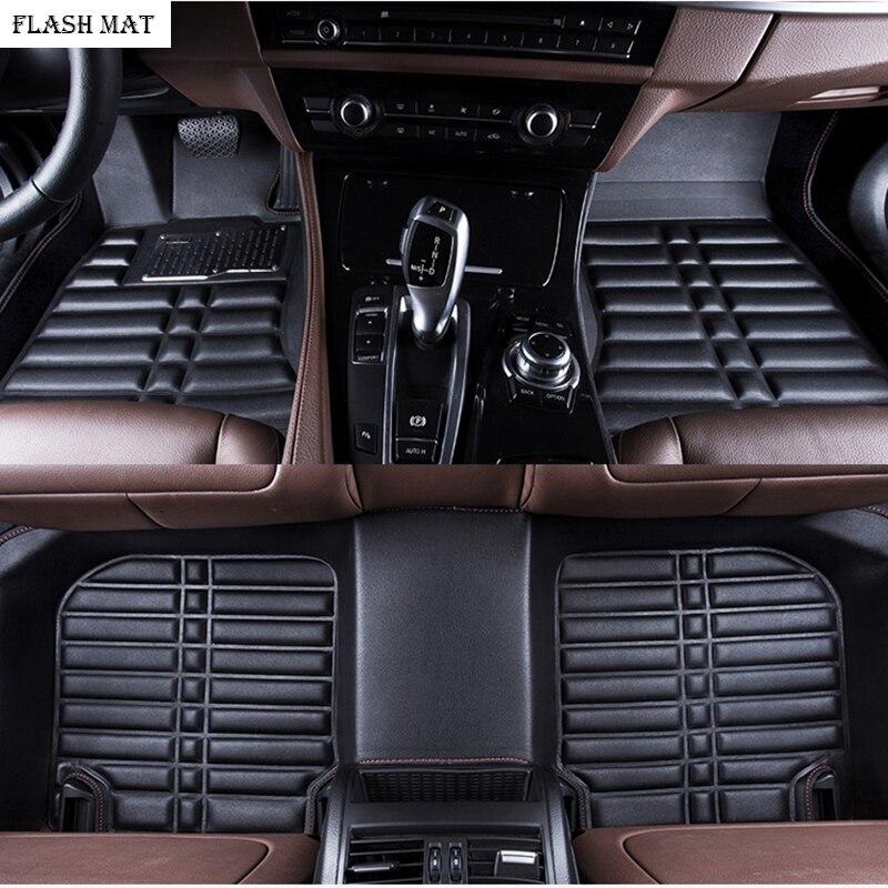 custom made car floor mats for ford fiesta 2006-2018 focus mk2 explorer kuga fusion ranger ecosport Auto accessories car mats