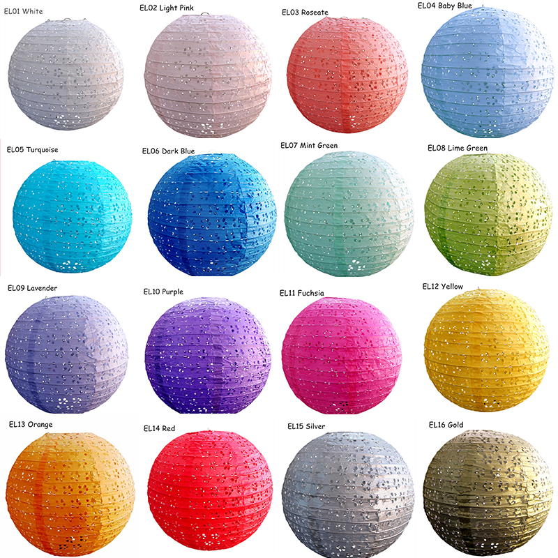 8inch=20cm 5pcs/lot Roseate Handmade Round Eyelet Lace Look Paper Lanterns Hanging Wedding Birthday Party Holiday Decorations
