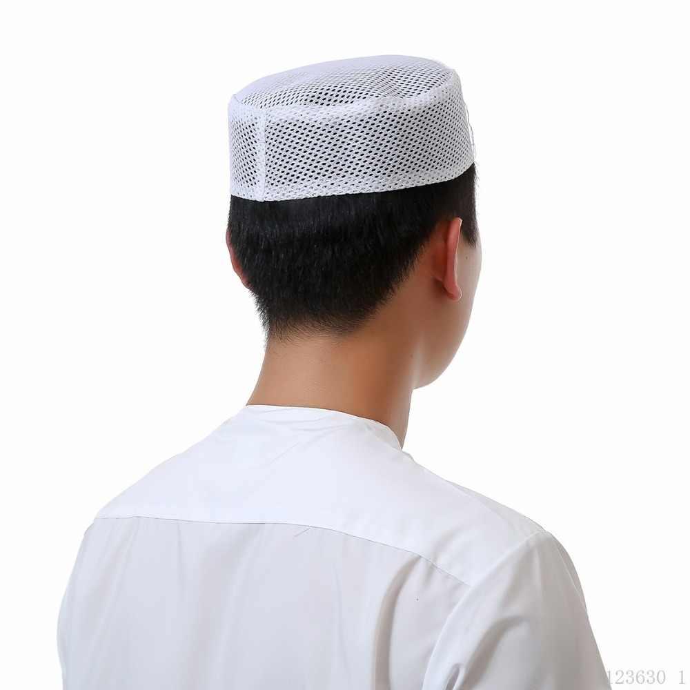 3dd83b355af4 ... Mens Muslim Hat Islamic Kufi Prayer Skull Cap Plain White Egyptian  khanqahi Turkish cap Beanie ...