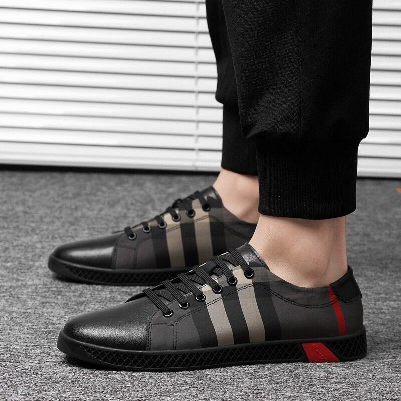 Véritable cuir chaussures décontractées en plein air mode hommes baskets oxfords printemps à lacets respirant confortable hommes chaussures mocassins k3 - 3