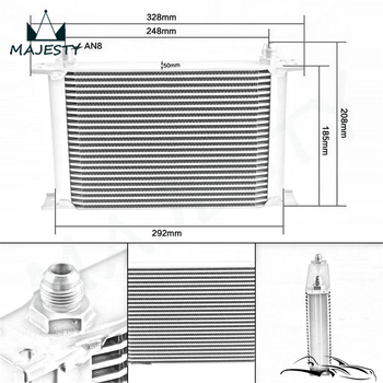 For Universal Cars 25 Row 8-AN Aluminum Transmission Fuel / Oil Cooler AN8 Cooling System