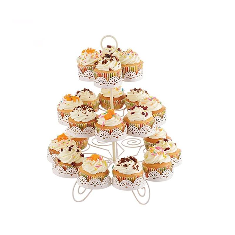 Три уровня, 22 шт., подставки для кексов, для детей, для дня рождения, для украшения торта, для выпечки, для магазина, инструменты для торта, сто