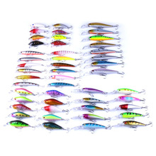 48pcs/lot Fishing Lures Mixed Lure Artificial Professional Crank Minnow Bait Wobblers Fishing Tackle Outdoor Simulation Lures