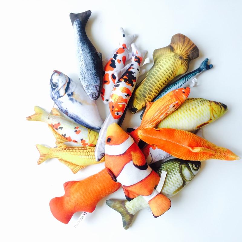 16-20cm Funny  Fish Shape Soft  Plush Simulation Fish Stuffed Interactive Toy  Plush Stuffed Animal Toys