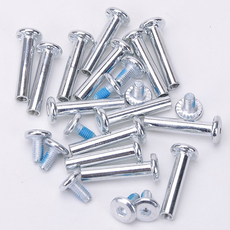 Free Shipping Roller Skates Parts Axle Male And Female Screws