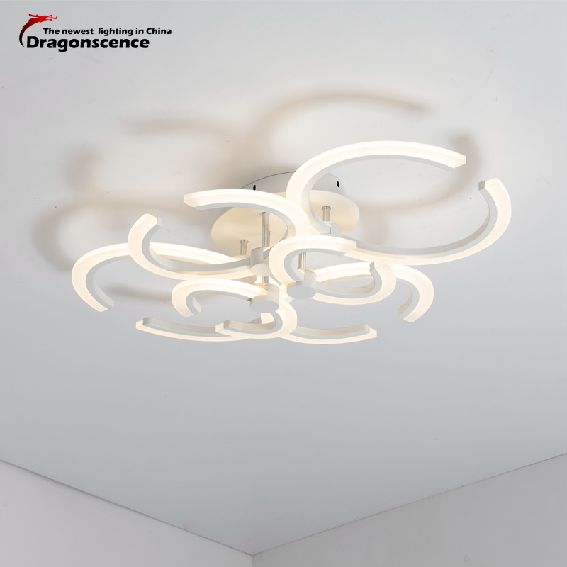 Dragonscence Modern LED Ceiling Light C shaped Ceiling LED Lamp fixtures for Bed Room Dining Room Study Kitchen Bathroom Foyer