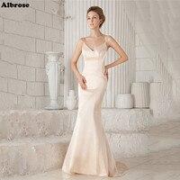 Light Champagne Sexy Mermaid Wedding Dress Spaghettic Straps Elegant Wedding Dresses Long Bridal Gowns Formal Dresses