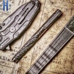 Tactical Pen Carbon Faser Titan Legierung selbstverteidigung Verteidigung Stift Angriff Überleben EDC Überleben Pen