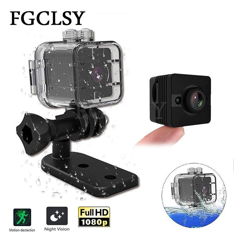 FGCLSY Mini cámara SQ11 HD 1080 p de la visión nocturna de la cámara del coche DVR de grabadora de vídeo SQ12 deporte impermeable Cámara cam SQ 11