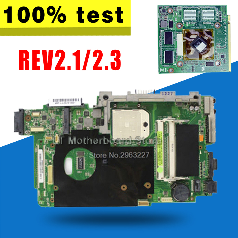 K51AB Motherboard For ASUS K51AC K70AC X7AC X7AE K70AE K51AE K70AB K70AF K70AD Laptop Mainboard HD4570 512MB VAG Video Card цены