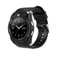Bluetooth Smart Watch V8 Clock With SIM TF Card Sync Notifier Smartwatch For IOS Android Round