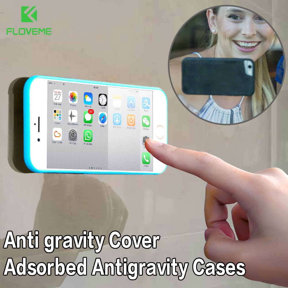 FLOVEME Anti Gravity Case For iPhone 5 S 6 6s 7 8 Plus Adsorbable Cover For Samsung Galaxy S8 S9 Plus S6 S7 Edge Capa in Fitted Cases from Cellphones Telecommunications