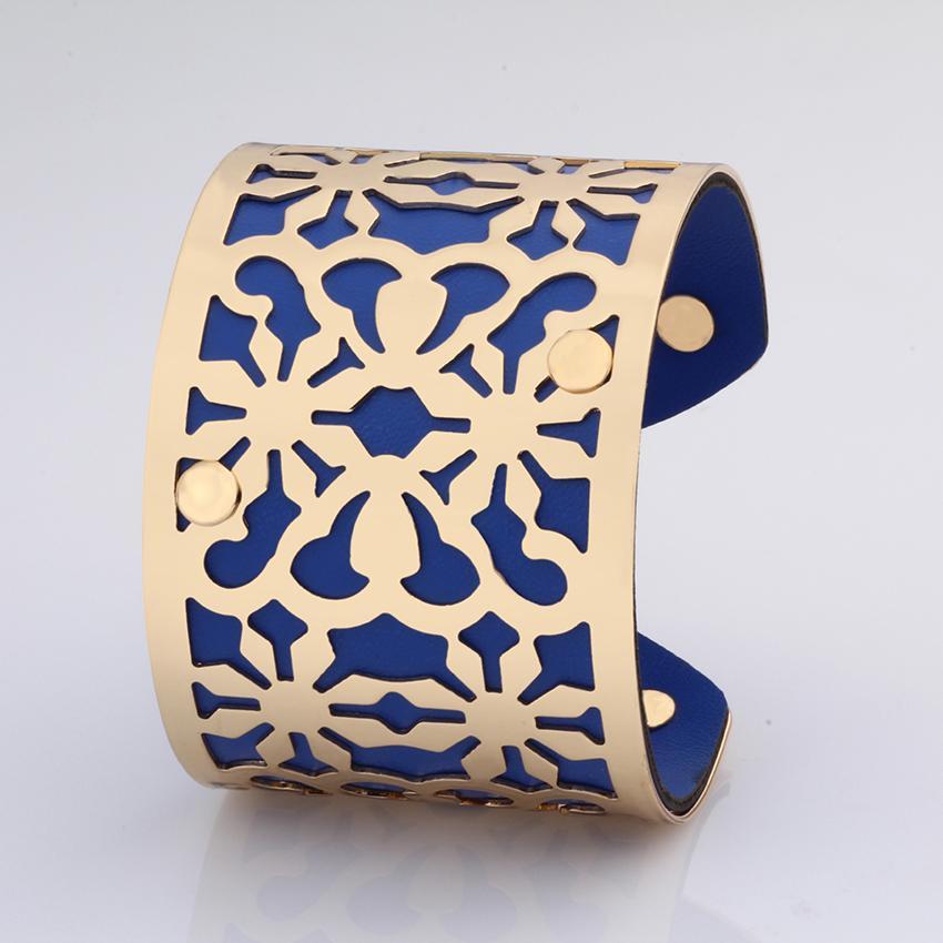d18263aa4d3c Color oro Brazaletes y pulseras mujeres vintage amor joyería India charms  pu moda tamaño grande al por mayor de (xs0002)