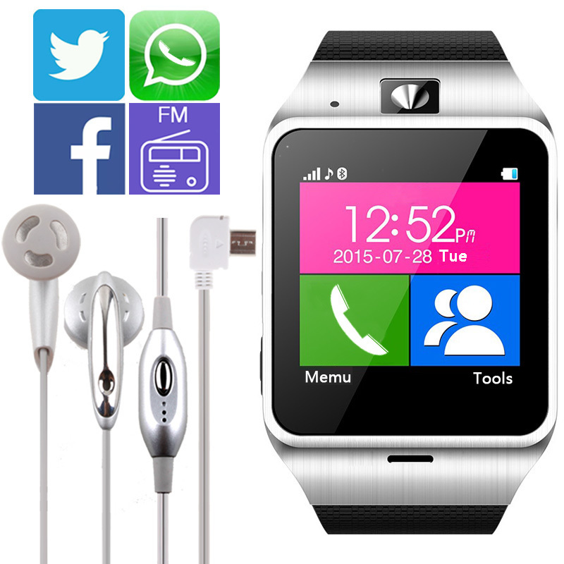 2016 new GV18 Aplus Smartwatch Bluetooth Smart Watch For Android IOS Phone Support SIM TF Card