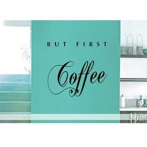 Image 1 - Виниловая наклейка CF28 для ресторана, кофейни, кухни, ресторана, украшение для дома, наклейки на стену, можно настраивать лозунги