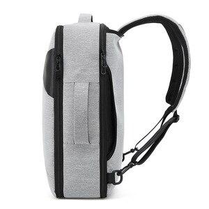 Image 3 - BAIBU الرجال على ظهره الذكور كمبيوتر محمول للأعمال 15.6 بوصة حقيبة السفر في الهواء الطلق USB شحن Mochila مدير الذكية مكافحة سرقة حقيبة الظهر
