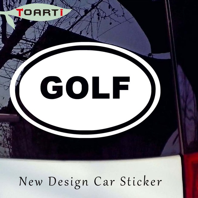 Golf oval car decal vinyl sticker sports golfer golfing ball cart car styling creative removable waterproof