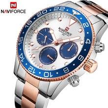NAVIFORCE marca de lujo superior relojes de moda Casual de cuarzo 24 horas de fecha reloj deportivo hombre de acero completo de negocios reloj impermeable