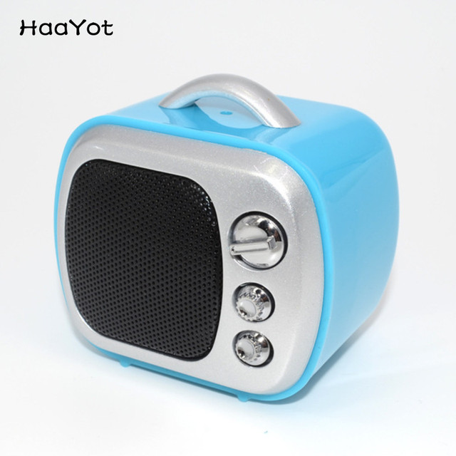 Haayot Mini Portable Clic Tv Microwave Design Bluetooth Speaker Bt V3 0 Edr Wireless