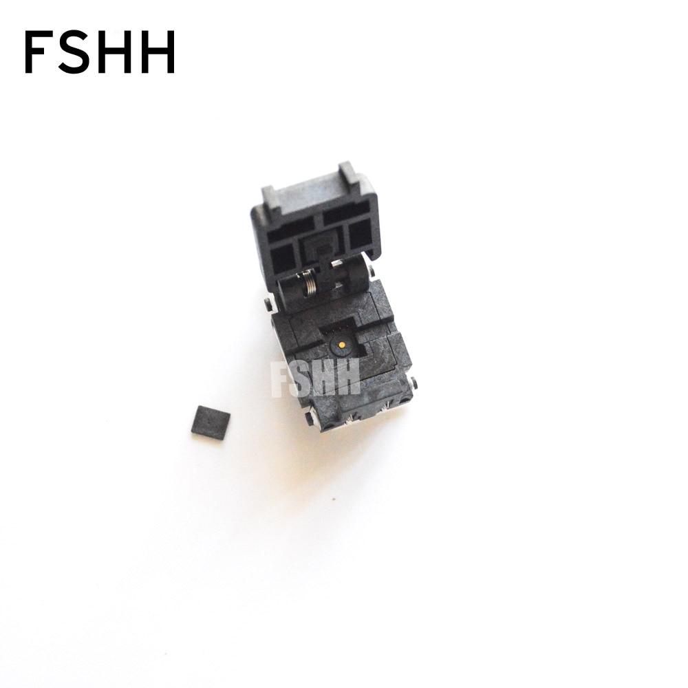 new 08QN12T16050 M test socket qfn8 wson8 dfn8 mlf8 udfn8 ic socket Flip test seat Pitch