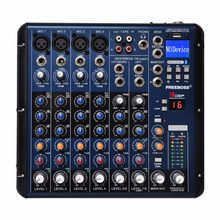 FREEBOSS SMR8 Bluetooth USB Record 8 Channels (4 Mono + 2 Stereo) 16 DSP Effects USB Professional DJ Mixer