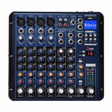 FREEBOSS SMR8 Bluetooth USB Rekord 8 Kanäle (4 Mono + 2 Stereo) 16 DSP Effekte USB Professional DJ Mixer