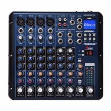 Freeboss SMR8 Bluetooth Usb Record 8 Kanalen (4 Mono + 2 Stereo) 16 Dsp Effecten Usb Professionele Dj Mixer