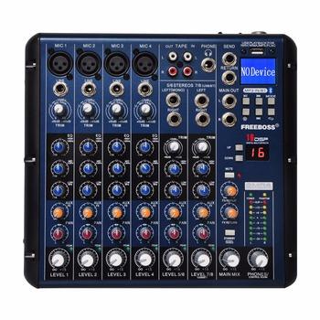 SMR8 zapis Bluetooth 8 kanałów (4 Mono + 2 Stereo) 16 DSP USB profesjonalny konsoleta dj tanie i dobre opinie LOMEHO Miksery 4 mono +2 stereo 3 BAND Send and Return 16 DSP DELAY 48V DC