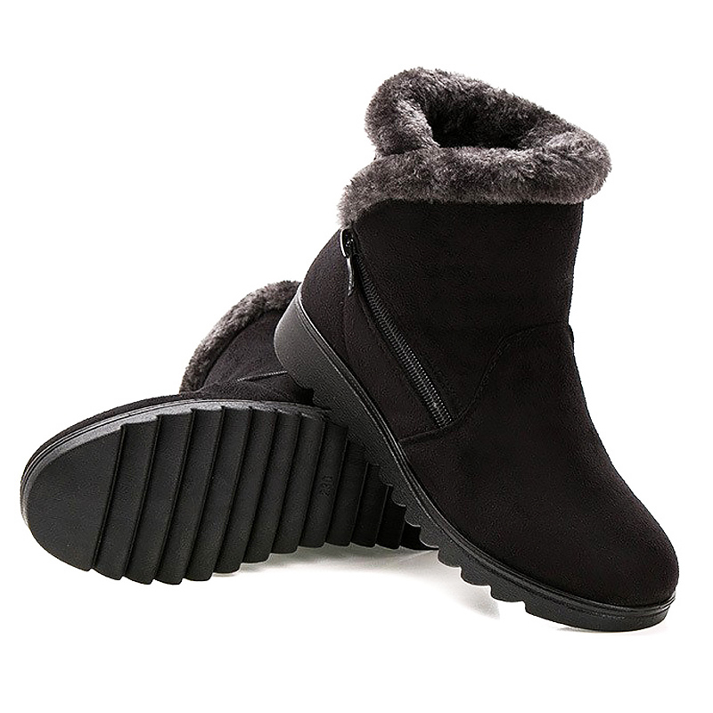 JIASHA Women Winter Shoes Ankle Boots Ladies Snow Boots