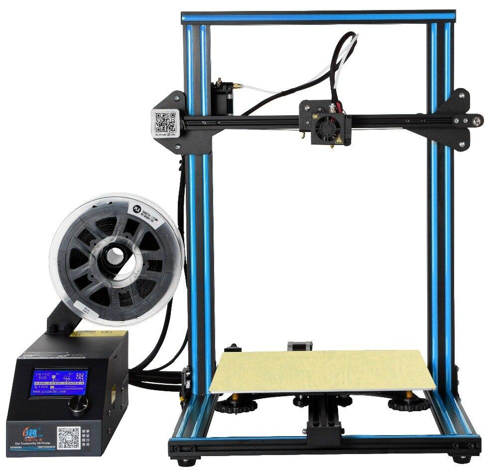 Creality CR10/CR10S imprimante 3D 1.75mm 0.4mm buse Filament surveillance alarme de mise hors tension reprendre grande imprimante 3D cadre métallique