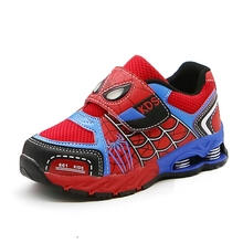 Children boys casual shoes spiderman Sneakers Kids cartoon Sports Shoes boy PU Casual Boots Rubber Button EUR 26-37