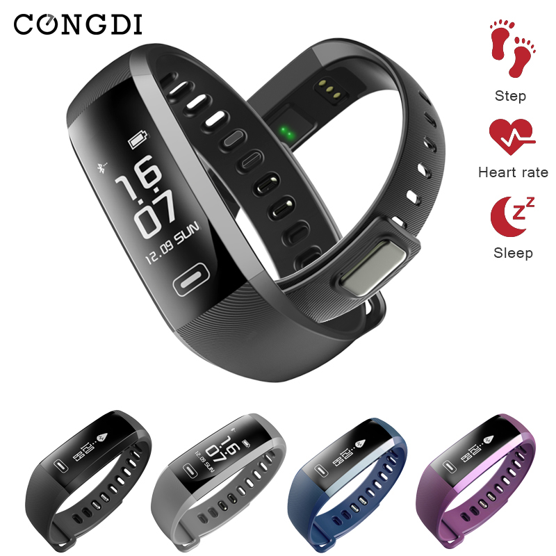 Congdi R5pro Smart Wristband Heart Rate/Blood Pressure/ Blood Oxygen Tracker Smartband Fitness Waterproof Wrist Watch <font><b>TEZER</b></font> image