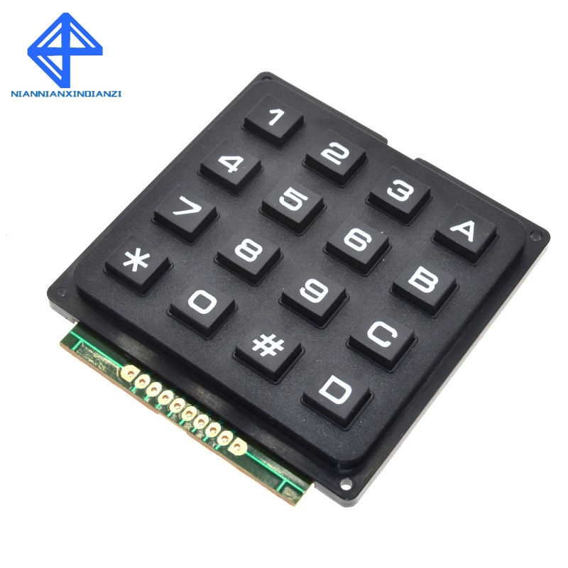 Active Components Wavgat 4 X 4 Matrix Array 16 Keys 4*4 Switch Keypad Keyboard Module For Arduino