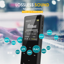 1.8inch 8G Touch screen Mp3 player Bluetooth Metal Sports Lossless Hi-Fi Music Player with FM Radio and E-Book Reading